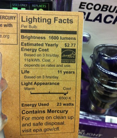 Lighting Facts - Energy-efficient lighting